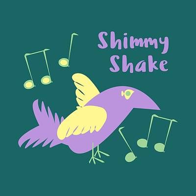 Shimmy Shake Poster by Geckojoy Gecko Books