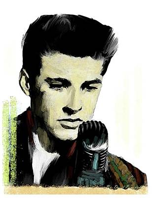 Poster featuring the painting Shine On Youth  Ricky Nelson by Iconic Images Art Gallery David Pucciarelli