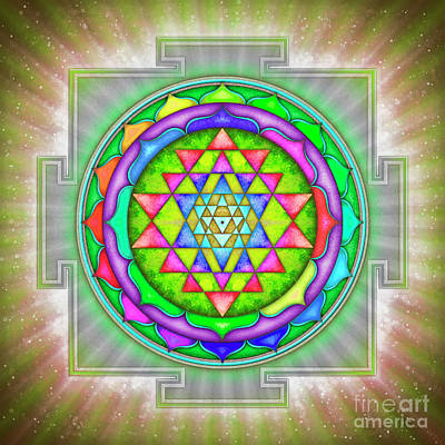 Shining Sri Yantra Mandala Iv Poster by Dirk Czarnota
