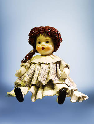 Shinny Porcelain Doll Poster by Linda Phelps