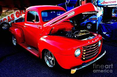 Shiny Red Ford Truck Poster