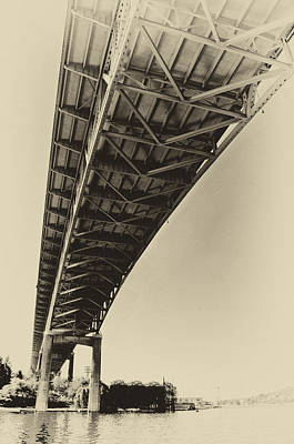 Ship Canal Bridge Old Yellow Poster by Pelo Blanco Photo