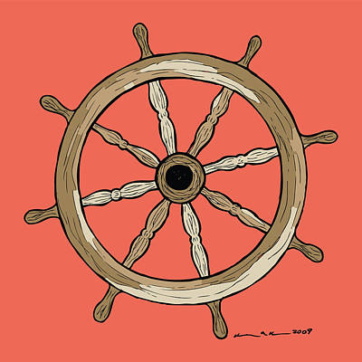 Ship Wheel Poster by Karl Addison