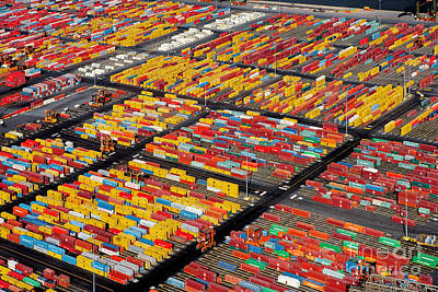 Shipping Container Yard Poster by Phil Degginger