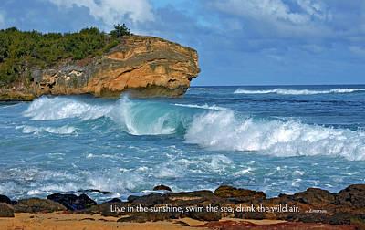 Shipwreck Beach Shorebreaks 2 Poster by Marie Hicks