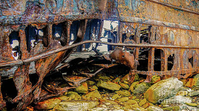 Shipwreck On Inisheer 3 Poster by Lexa Harpell