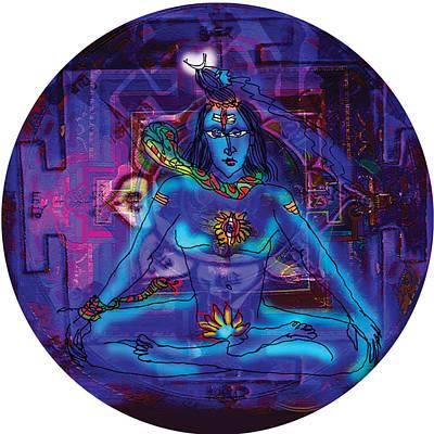 Shiva In Meditation Poster