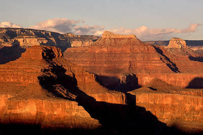 Shiva Temple  At Sunset Grand Canyon National Park Poster