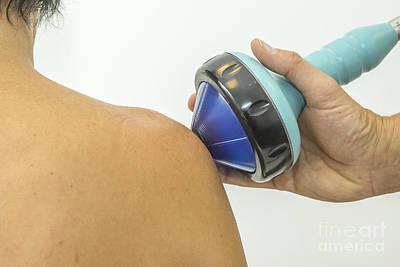 Shockwave Treatment On Shoulder Poster by Patricia Hofmeester