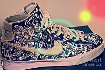 Shoe To Art Poster by Dieter Lesche