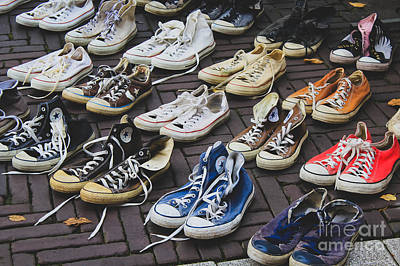 Shoes At A Flea Market Poster