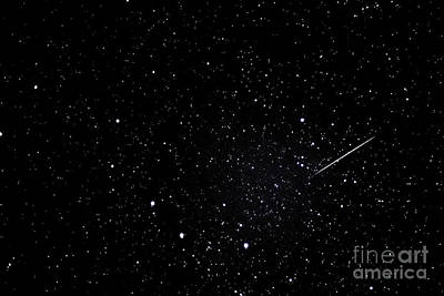 Shooting Star And Big Dipper Poster