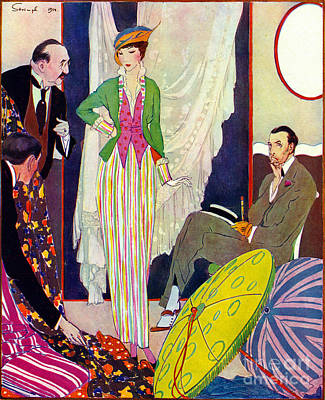 Poster featuring the photograph Shopping 1914 by Padre Art