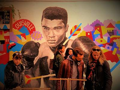 Shopping In Brooklyn With Mohamed Ali Poster by Funkpix Photo Hunter