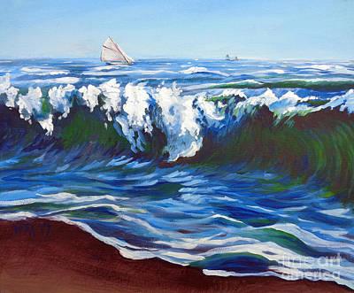 Shore Berm Regatta Poster by Vanessa Hadady BFA MA