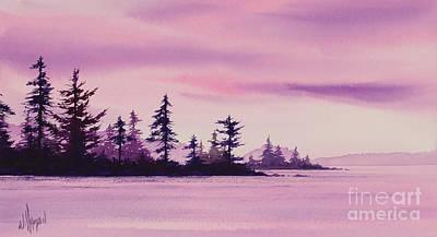 Shoreland Sunset Poster