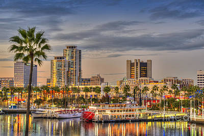 Shoreline Village Rainbow Harbor Marina Poster by David Zanzinger