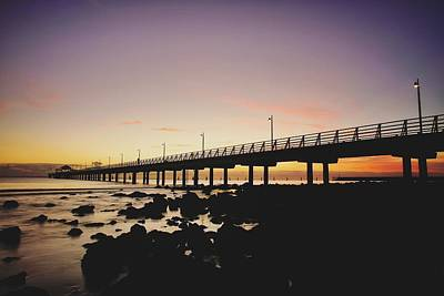 Shorncliffe Pier At Dawn Poster