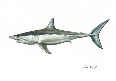 Shortfin Mako Shark Poster
