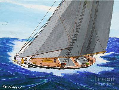 Shortning Sail To Cross The Bar Poster by Bill Hubbard