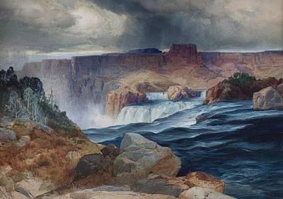 Shoshone Falls Idaho Poster by Thomas Moran