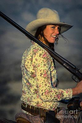 Shotgun Annie Western Art By Kaylyn Franks Poster