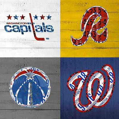Shout To #washingtondc #capitals Poster by Design Turnpike