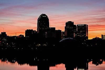 Shreveport At Sunset Poster by Scott Pellegrin