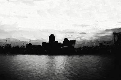 Shreveport Skyline Poster by Scott Pellegrin