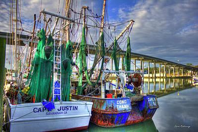 Shrimp Boat Gear Savannah Georgia Art Poster