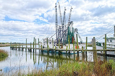 Shrimp Boats Of St. Helena Island Poster