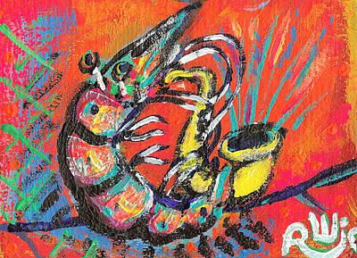 Shrimp On Sax Poster