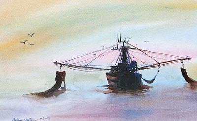 Shrimp Trawler Poster