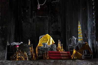 Shrine At Angkor Wat Poster