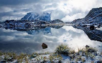 Shuksan In Fog Poster by Idaho Scenic Images Linda Lantzy
