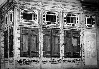 Shuttered And Peeling Palace Bw Poster by Joan Carroll