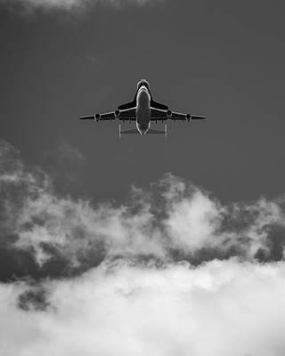 Shuttle Enterprise In Black And White Poster