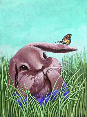 Shy Bunny - Original Painting Poster