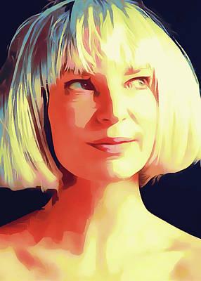 Sia Portrait Poster by Yury Malkov