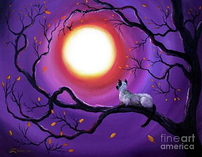 Siamese Cat In Purple Moonlight Poster