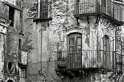 Sicilian Medieval Facade Poster