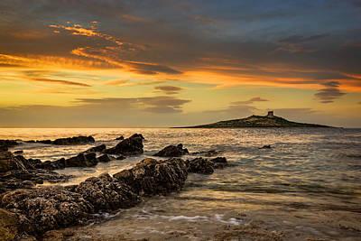Sicilian Sunset Isola Delle Femmine Poster