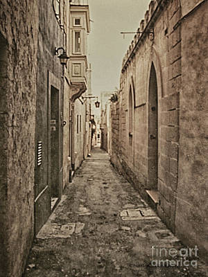 Poster featuring the photograph Side Street Malta by Charles McKelroy