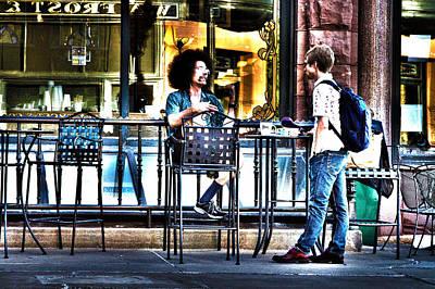 Sidewalk Cafe Patrons Poster