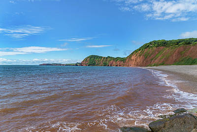 Poster featuring the photograph Sidmouth Jurassic Coast by Scott Carruthers