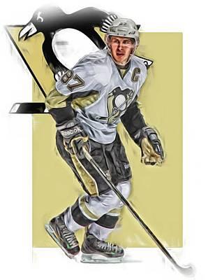 Sidney Crosby Pittsburgh Penguins Oil Art Poster