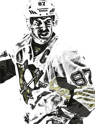 Sidney Crosby Pittsburgh Penguins Pixel Art 4 Poster by Joe Hamilton