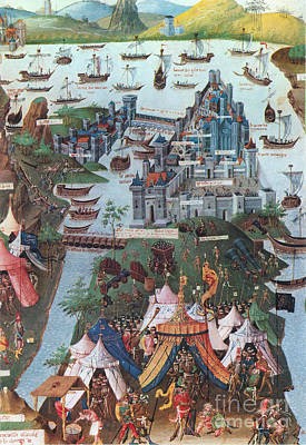 Siege Of Constantinople, 1453 Poster by Photo Researchers