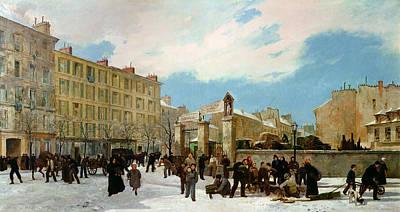 Siege Of Paris Poster by Jacques Guiaud