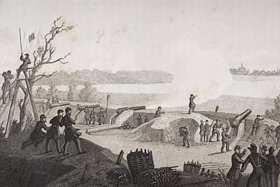Siege Of Yorktown Virginia 1862. Drawn Poster by Vintage Design Pics